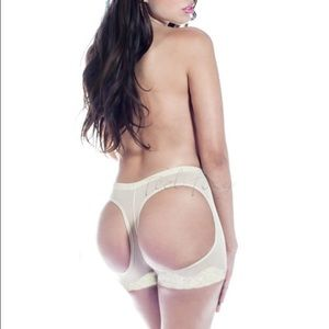 Beige lace butt lifter small