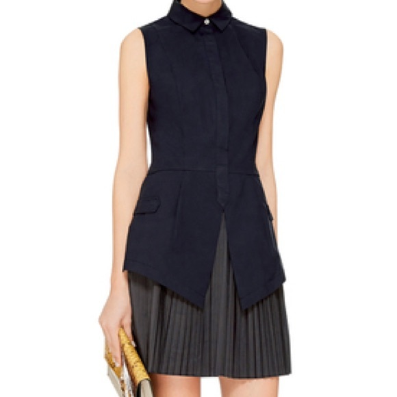 c4ace0e4157 DEREK LAM 10 CROSBY Pleated Skirt Shirt Dress