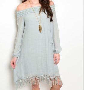 FashionBohoLoco Dresses & Skirts - 🙀1 HOUR SALE! A Line Lace Cape Slip Dress NWOT