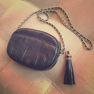 Handbags - Vintage black evening bag with tassel