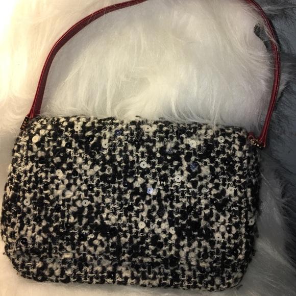 858b2e2eda9a Rage New York Sequins Twill Shoulder Handbag