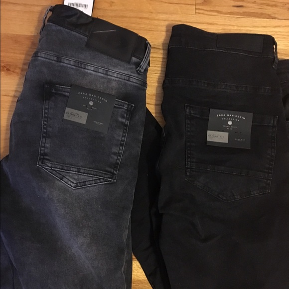 3a4f3f0b68 2 pairs of men's Zara jeans size 36 NWT