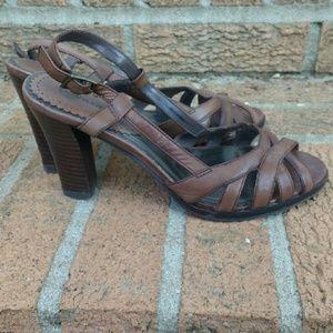 Banana Republic brown sandal heels