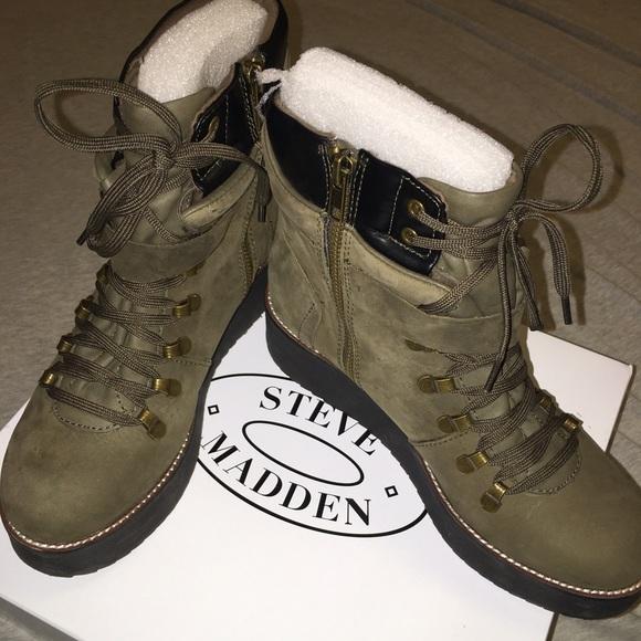 aea46be4e21 Steve Madden Hiking Platform Boot. M 56c200c199086ab0680657d8