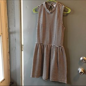 UO empire waist checkered dress