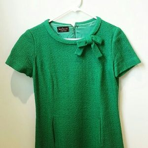 Vintage Green Bow Dress