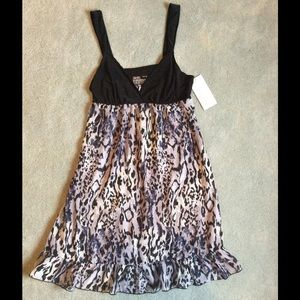 Gilligan & O'Malley Other - NWT Black & Animal Print Chemise