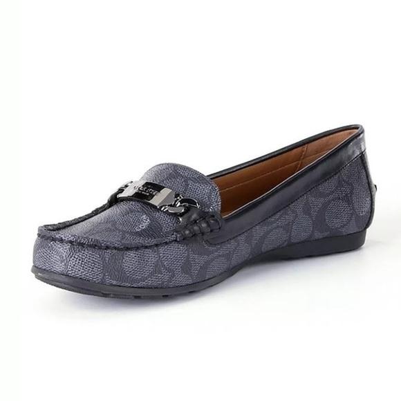 b7b2782a9ee Coach Smoke  black Olive Loafers Sz 5 1 2