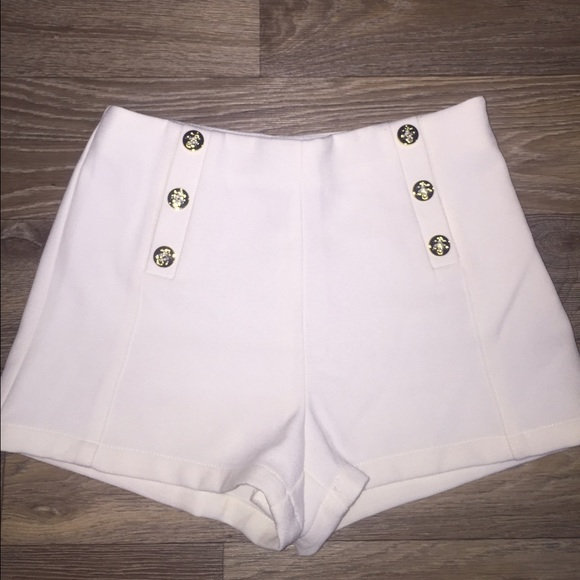 Forever 21 - Off white high waisted sailor shorts from Maryann's ...