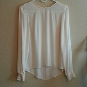 Zara blouse with gold studs and slits