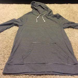 old Navy tall Navy stripe hoodie