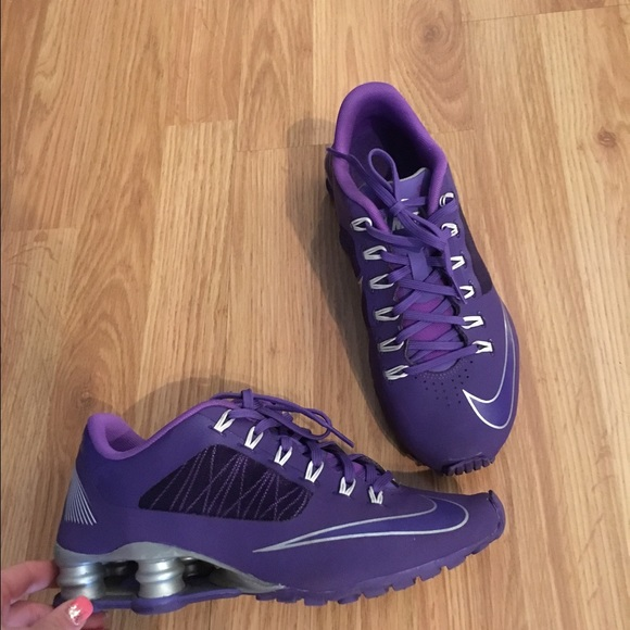 new product 10bb5 53230 Purple Nike shox