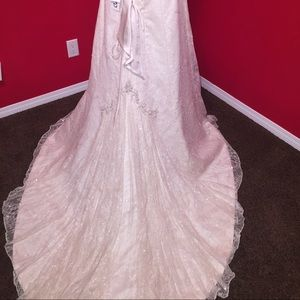 Couture Vintage lace beaded wedding gown