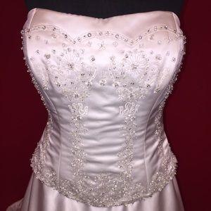 Swarovski beaded couture wedding gown