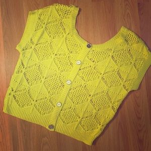 Tops - Neon Crochet Top.