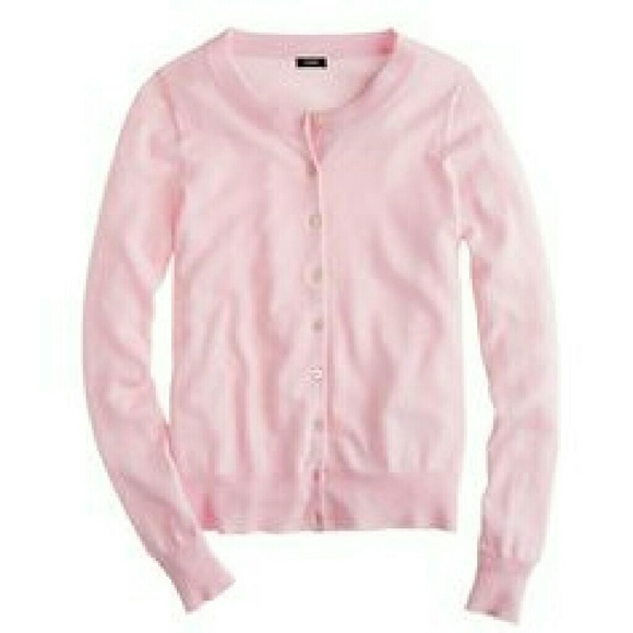 79% off J. Crew Sweaters - J. Crew light pink, thin wool cardigan ...