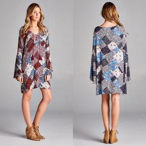 Dresses & Skirts - ⭐️SALE⭐️Patchwork Printed Tunic- RED