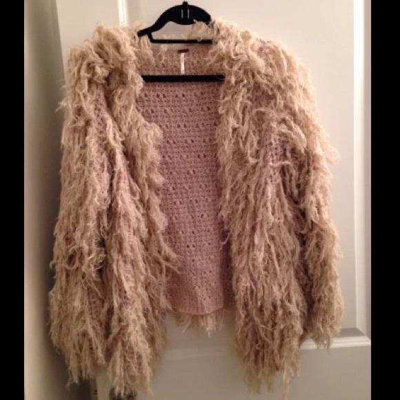 bf5edd2b0f7b54 Free People Sweaters - Free people faithful shaggy cardigan sweater M