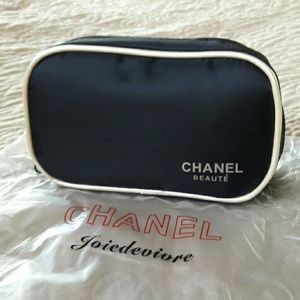 CHANEL Accessories - Chanel Black makeup bag