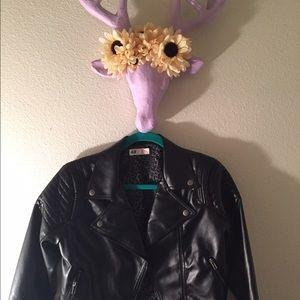 H&m leather jacket youth size