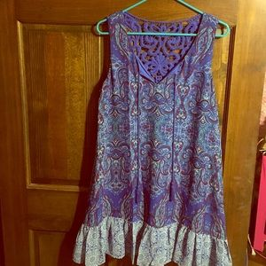 As u wish Dresses & Skirts - Brand new as u wish blue pattern dress large