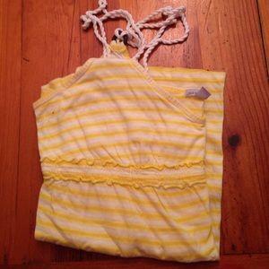 Yellow and white stripe tank top