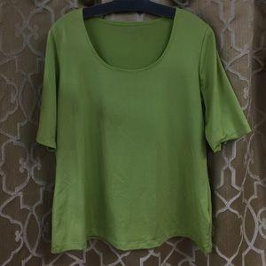 Susan Graver Tops - Lime green SUSAN GRAVER tee t-shirt sz M