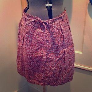 Gap floral pleated skirt