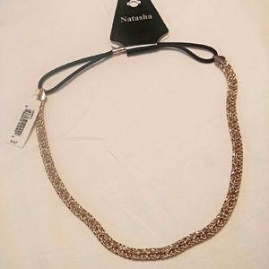 Accessories - Natasha gold braided headband