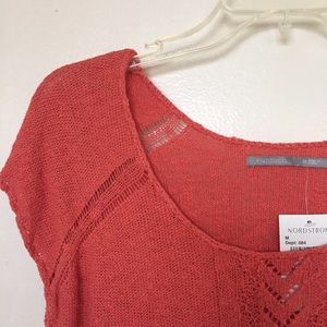 Coral Knitted Blouse