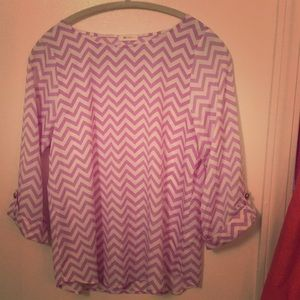 Everly chevron top