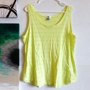 Old Navy Tops - 💥LAST CHANCE💥Old Navy Neon Yellow Tank