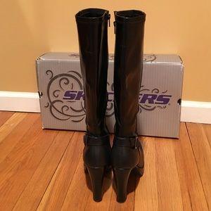 SALE Skechers Black Platform Knee High Boots