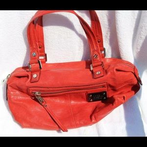 L.A.M.B red leather satchel