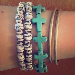 Urban Outfitters Jewelry - 2️⃣ Skull Bracelets