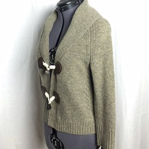 J. Crew toggle cardigan XS cashmere blend oatmeal
