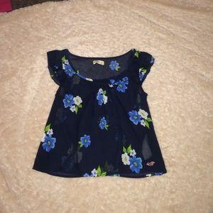 Hollister floral blouse