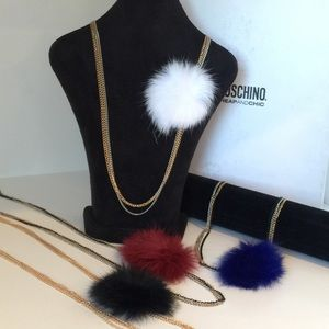 NEW Fur Puff Necklace