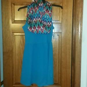 Self Esteem Dresses & Skirts - 🌺Gorgeous Dress w/ Scarf!!! Brand New