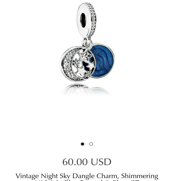 dd6ad4297 Pandora Vintage Night Sky Dangle Charm. M_59d698db9818297cf5034079