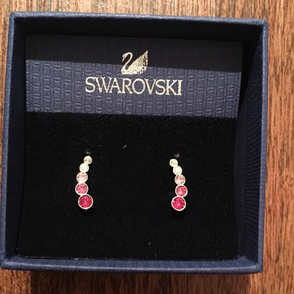 171d1c4a1 Element Drop Earring Pink. Exclusive Earrings With Pink Swarovski Crystal  White ...