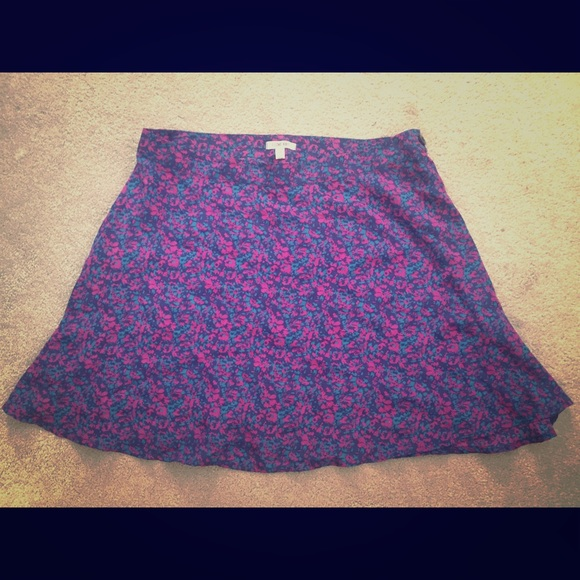 Heritage 1981 Dresses & Skirts - Heritage 1981/Forever 21 silk floral print skirt