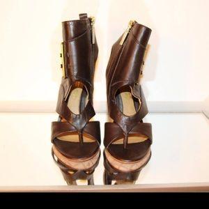 L.A.M.B. Shoes - L.A.M.B zayn sandals in dark brown NWOB