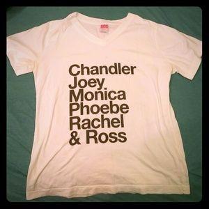 "Tops - White ""Friends"" T shirt"