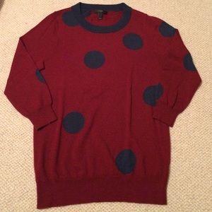J.Crew Tippi Sweater - Polka Dot - Size S