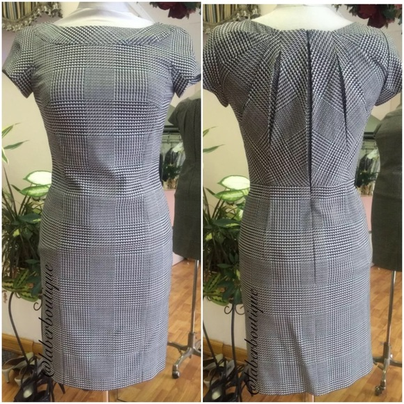 73% off Escada Dresses Kleid Plaid Dress | Poshmark
