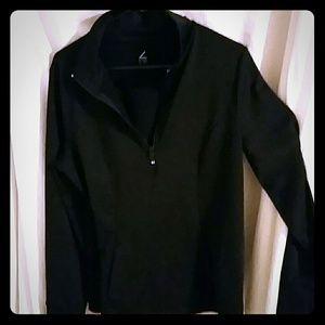 Black half zip track top for sale