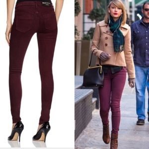 Black Orchid Denim - Black orchid mid rise skinnies in berry naughty
