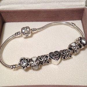 Jewelry - Celtic knot Charm Bracelet.