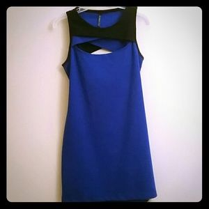 Zinga Dresses & Skirts - Sexy Royal Blue and Black Cut Out Mini